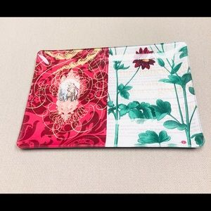 Fringe Studio Glass Tray Mary & Child Red Floral